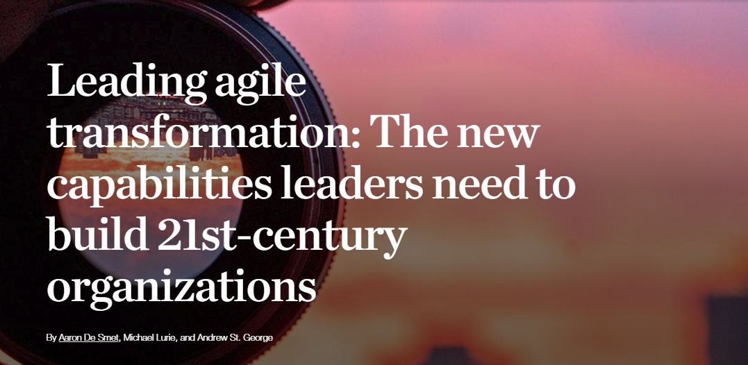 Leading agile transformation
